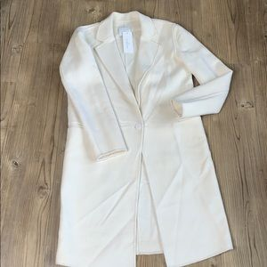 NWT Sandro Cream Ivory Trench Coat size 38